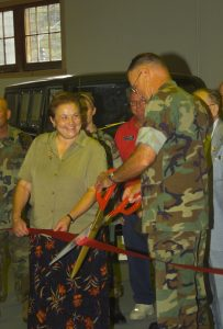 Ribbon Cutting - Mechanized Museum (27 Sept 2002)
