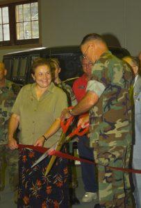 Ribbon Cutting - Mechanized Museum (27 Sept 2002)